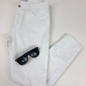 Just Black Denim Skinny Jean Size 28 Color White